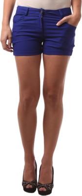 FashionExpo Solid Women,s Blue Hotpants