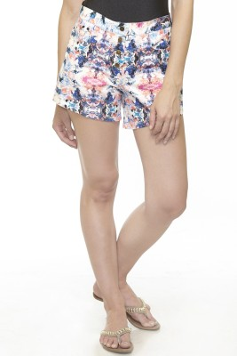 Divaat Graphic Print Women's Blue Basic Shorts