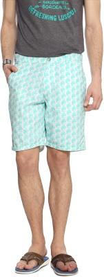 People Printed Men's Blue Denim Shorts