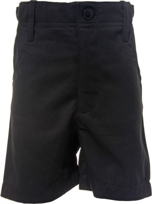 Babeez World Solid Boys Black Basic Shorts