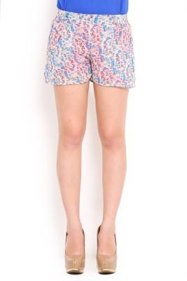 Trend Arrest Printed Women's Blue Basic Shorts