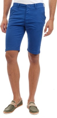Sting Solid Men's Blue Chino Shorts