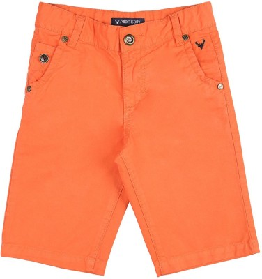 Allen Solly Solid Boy's Orange Chino Shorts