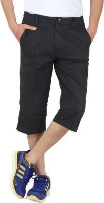 Sapper Solid Men's Black Gym Shorts