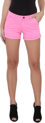 Again? Vintage Solid Women's Pink Chino Shorts