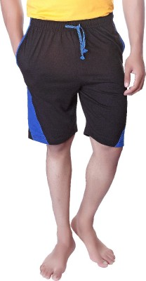 LUCfashion Solid Men's Black, Blue Basic Shorts