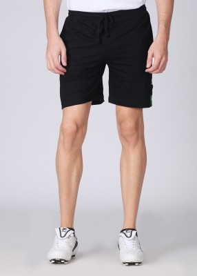 Chromozome Solid Men's Black, Green Shorts