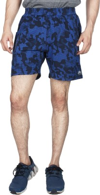 Creez Printed Men's Dark Blue, Black Sports Shorts