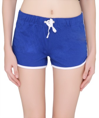 Pepperika Solid Women's Blue Night Shorts