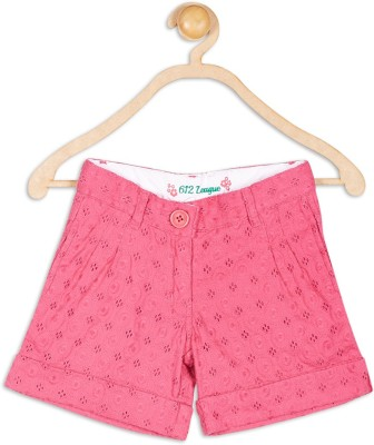 612 League Solid Girl's Pink Basic Shorts