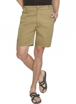 Jazzup Solid Men's Beige Chino Shorts