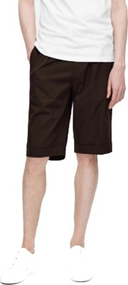 Cool Gene Solid Men's Brown Night Shorts