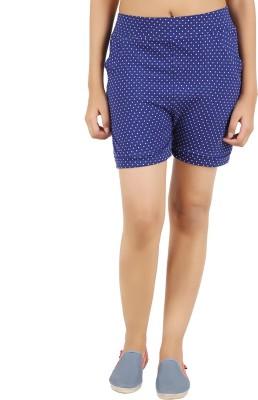NOTYETbyus Printed Women's Blue Basic Shorts