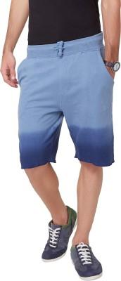 Elaborado Printed Men,s Blue, Grey Basic Shorts