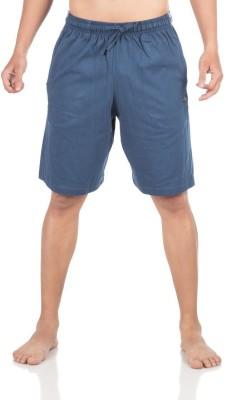 Vip Solid Men,s Dark Blue Bermuda Shorts