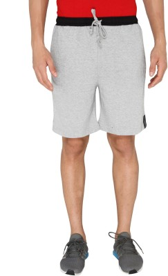 Chromozome Solid Men's Grey, Black Shorts