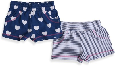 Mothercare Printed Baby Girl's White, Blue Night Shorts