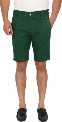 Blimey Solid Men's Dark Green Chino Shorts