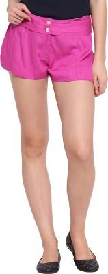 Ozel Studio Solid Women's Pink Beach Shorts