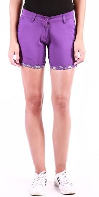 Change360° Solid Women's Purple Basic Shorts