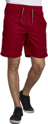 Beevee Solid Men,s Red Beach Shorts, Gym Shorts, Running Shorts