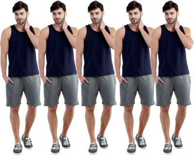 Dee Mannequin Self Design Men's Grey, Grey, Grey, Grey, Grey Sports Shorts