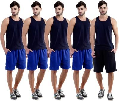 Dee Mannequin Self Design Men's Blue, Blue, Blue, Blue, Black Sports Shorts