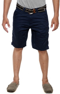 Sports 52 Wear Solid Men's Blue Basic Shorts