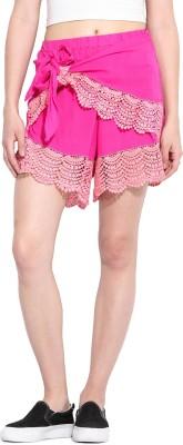 Paprika Solid Women's Pink, Beige Culotte Shorts