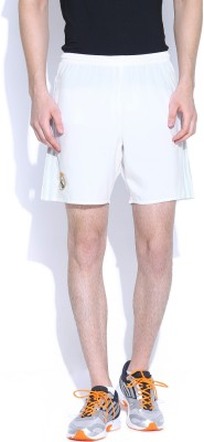 Adidas Solid Men's White Gym Shorts