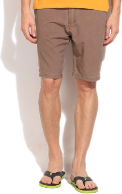 Quiksilver Solid Men,s Brown Basic Shorts