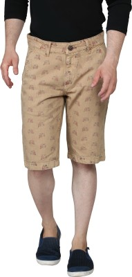Ripfly Printed Men's Beige Chino Shorts