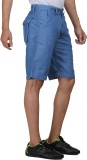 FX Jeans Co Solid Men's Blue Cargo Short...