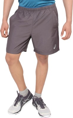 Asics Woven Men's Grey Running Shorts