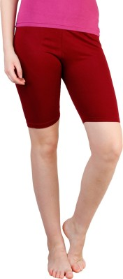 Rham Solid Women's Maroon Basic Shorts