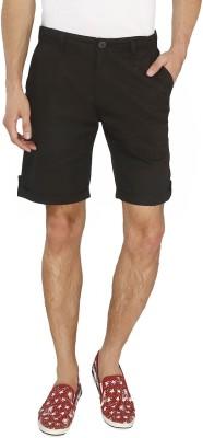 AVOQ-Style Reboot Solid Men's Black Basic Shorts