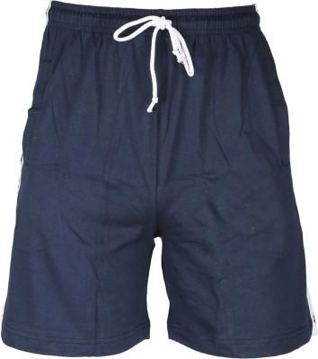 John Caballo Solid Men's Blue Basic Shorts