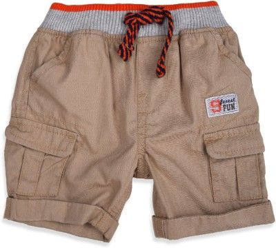 Mothercare Solid Baby Boy's Beige Basic Shorts