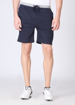 Chromozome Solid Men's Grey, Blue Shorts