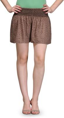 India Inc Printed Women's Brown Basic Shorts