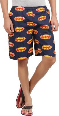 Maks Printed Men's Dark Blue Basic Shorts