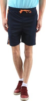 SPAWN Solid Men's Blue Basic Shorts
