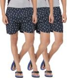AG Printed Men's Dark Blue Basic Shorts