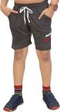 Red Ring Short For Boys Cotton Linen Ble...