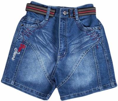 Don Solid Boy's Blue Denim Shorts