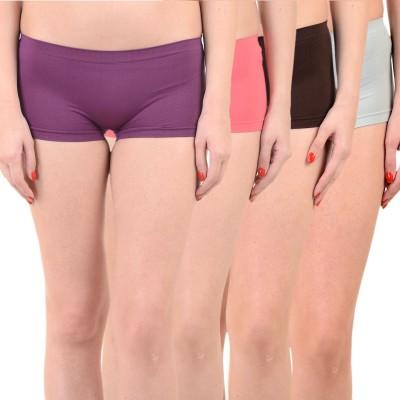 Mynte Solid Women's Purple, Red, Brown, Blue Cycling Shorts, Gym Shorts, Swim Shorts