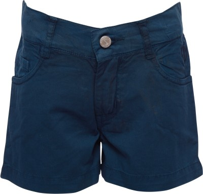 Joshua Tree Solid Girl's Blue Hotpants