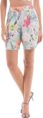 Shuffle Printed Women's Blue Beach Shorts