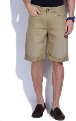 Jeanswest Australia Solid Men's Beige Denim Shorts