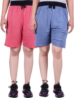 Gag Wear Solid Women's Red, Dark Blue Swim Shorts at flipkart